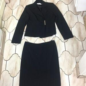 Calvin Klein Black Blazer & Skirt Suit Set 2 Piece